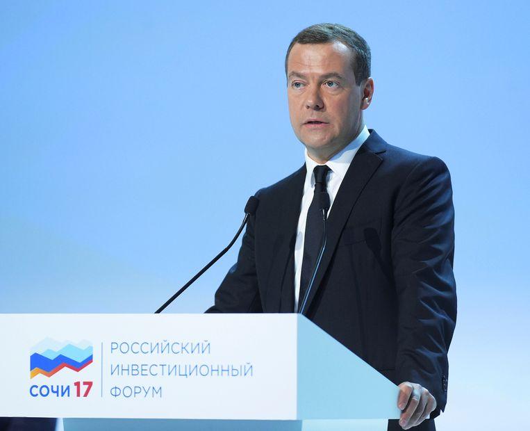 De Russische premier Medvedev Beeld reuters