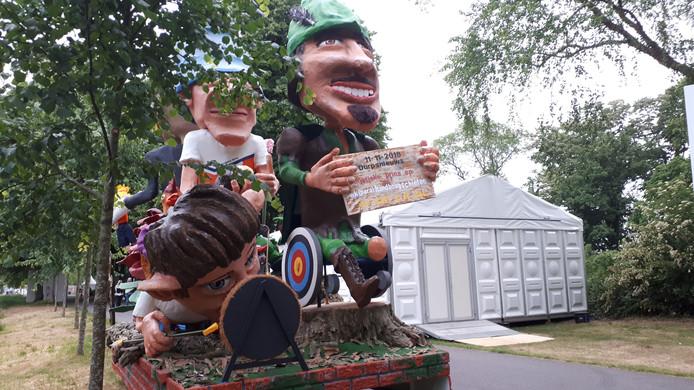 De praalwagen van Ut Spek bij het WK Handboogschieten