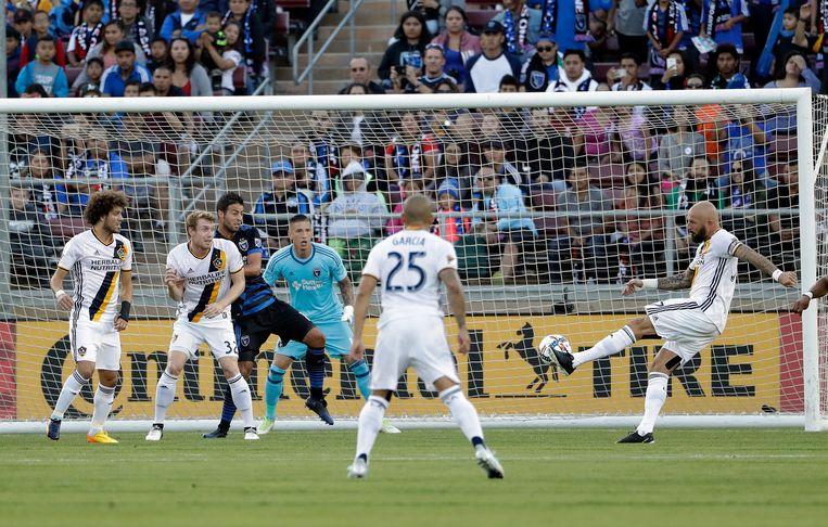 Van Damme met LA Galaxy tegen San Jose Earthquakes.