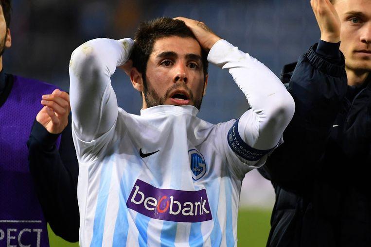 Een ontgoochelde Alejandro Pozuelo na de uitschakeling in de Europa League.