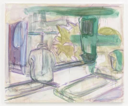 Een schilderij van Peter Kantelberg dat te zien is bij de speciale expositie in Breda waar het Stedelijk Museum Breda en de Van GoghGalerie uit Zundert voor het eerst samenwerken
