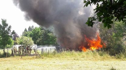 Zware brand vernielt loods carnavalsvereniging