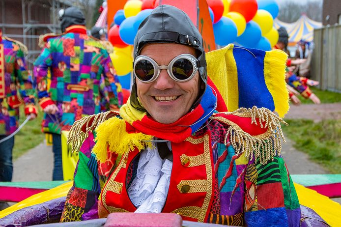 De carnavalsoptocht in Haghorst van dit jaar.