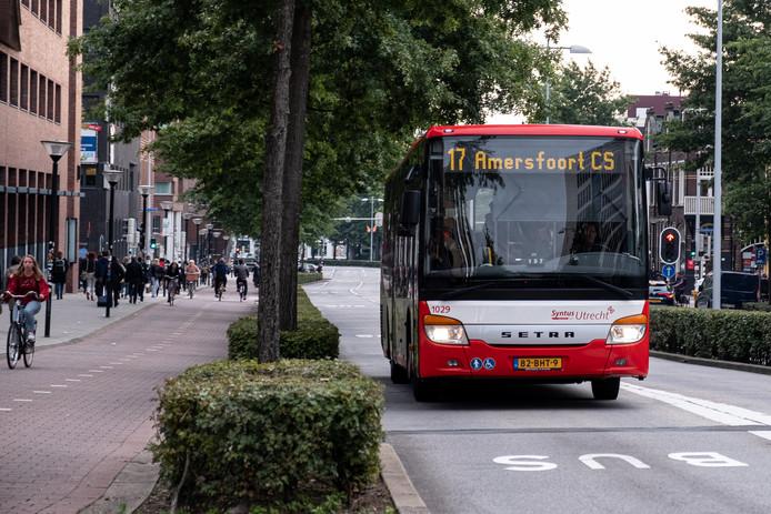 De bussen van Syntus geven allang als bestemming 'Centraal Station' dan wel CS aan.