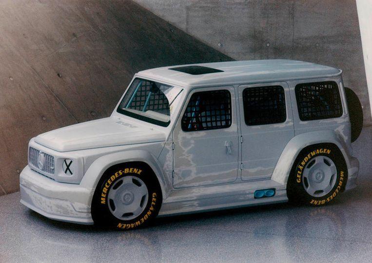 Mercedes-Benz Project Geländewagen, ontworpen door modeontwerper Virgil Abloh en Gorden Wagener, hoofd design van Daimler AG. Beeld Daimler AG