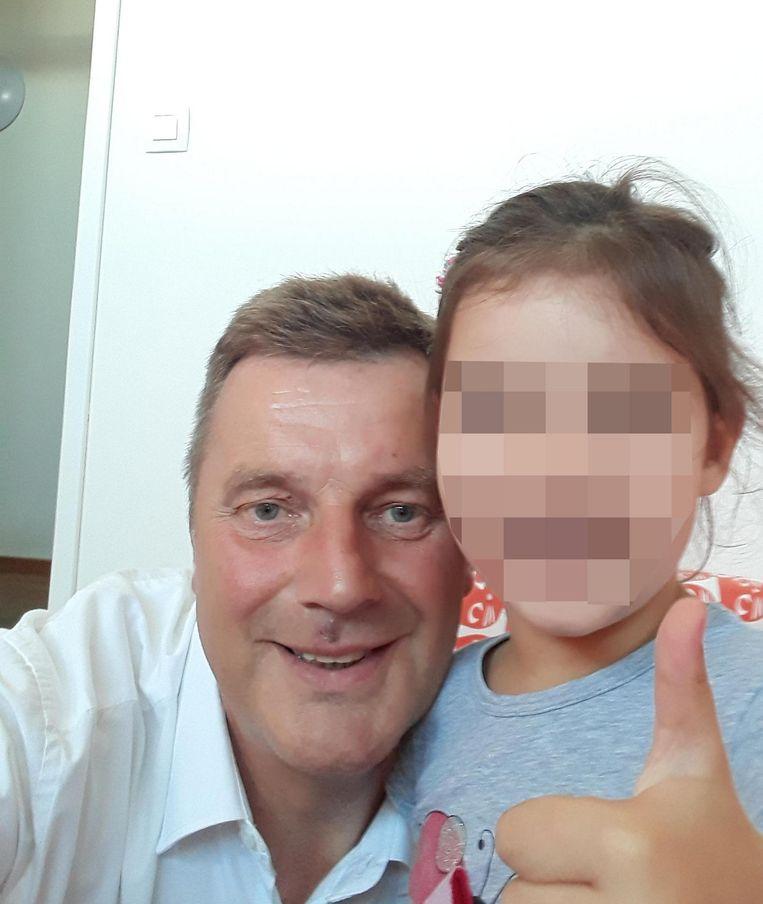 Franky met zijn dochter Louise in Ljubljana.