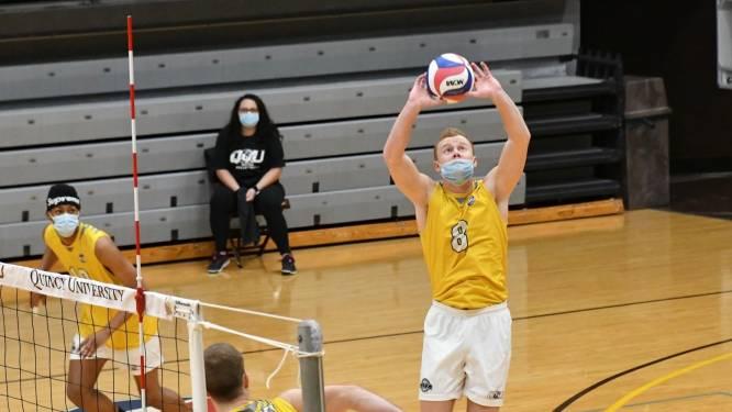 """Topsport met mondmasker? Voor Belgische volleyballer is het verplicht in Amerikaanse universiteitscompetitie: """"Mijn conditie is nu zelfs beter"""""""
