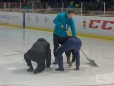 Slecht ijs gooit roet in het eten bij kwalificatieduel tussen ijshockeyers Nederland en Spanje