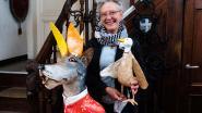 Frieda Heyman stelt kunstwerken uit papier maché tentoon