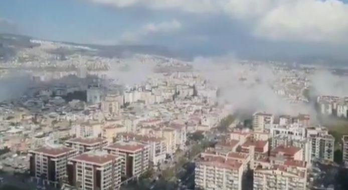 Le puissant séisme a provoqué l'effondrement de plusieurs immeubles