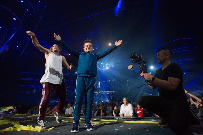 Da Rick celebrates Da Boy TommyMet zonen van Da Boy Tommy 'I love the 90's - The party' in de Hasseltse Ethias Arena