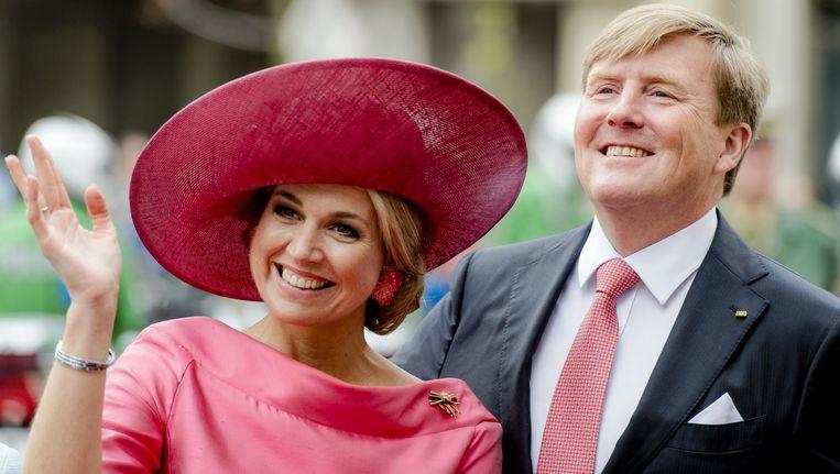 Koning Willem-Alexander en koningin Maxima Beeld anp
