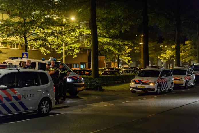 De politie was onder meer aanwezig rond het Verdiplein.