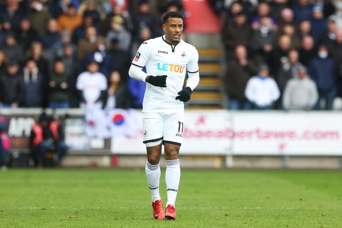 Luciano Narsingh als speler van Swansea.