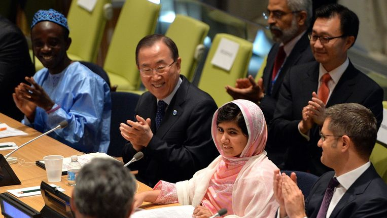 Malala in VN-hoofdkwartier, 2013. Beeld AFP