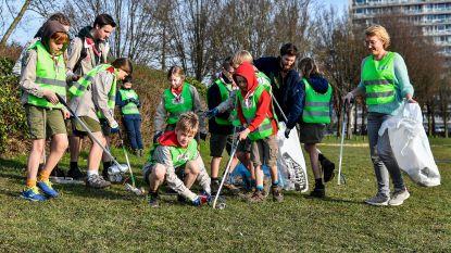 Scouts ruimen zwerfvuil op tijdens Goededoelendag