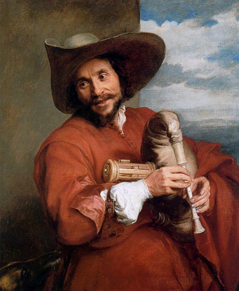 null Beeld Antoon van Dyck, François Langlois avec Musette 1641