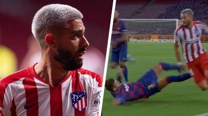 """Ook Spaanse pers genoot van Carrasco, die Piqué pijnlijk moment bezorgde: """"Bij elke rush van Yannick beefde Barcelona"""""""