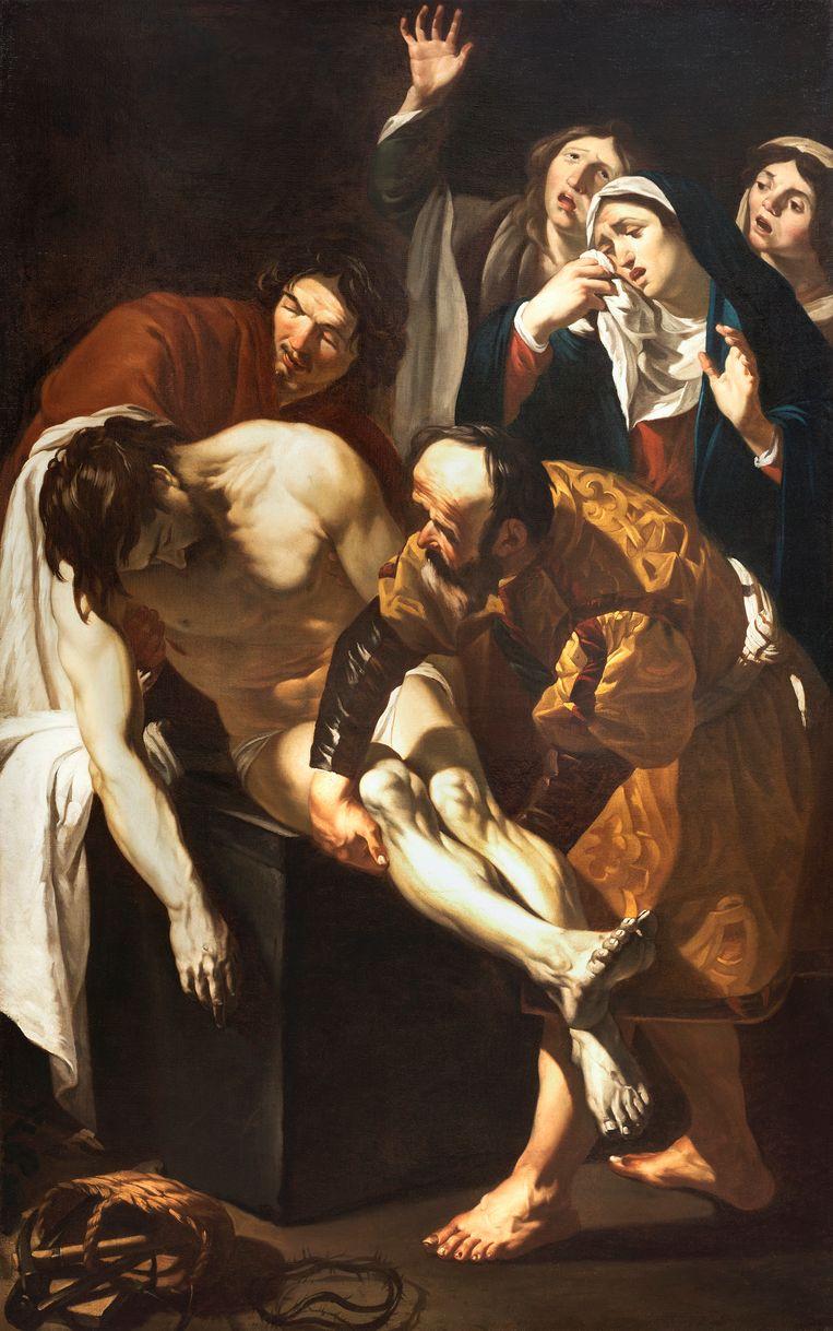 De graflegging van Christus; Dirck van Baburen. 1617-1621. Olieverf op doek. Beeld  Centraal museum Utrecht