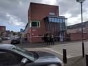 Het trappenhuis waar het incident zou hebben plaatsgevonden.