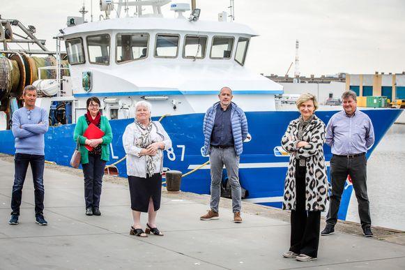 Minister Hilde Crevits kwam vrijdag het nieuws brengen aan de reders. Op 4 mei was ze al in Oostende om te overleggen.