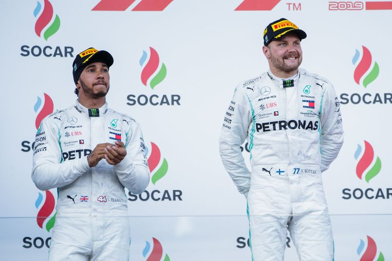 Lewis Hamilton en  Valtteri Bottas.