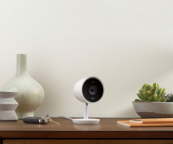 De Nest Cam IQ, het recentste model van de slimme beveiligingscamera's.