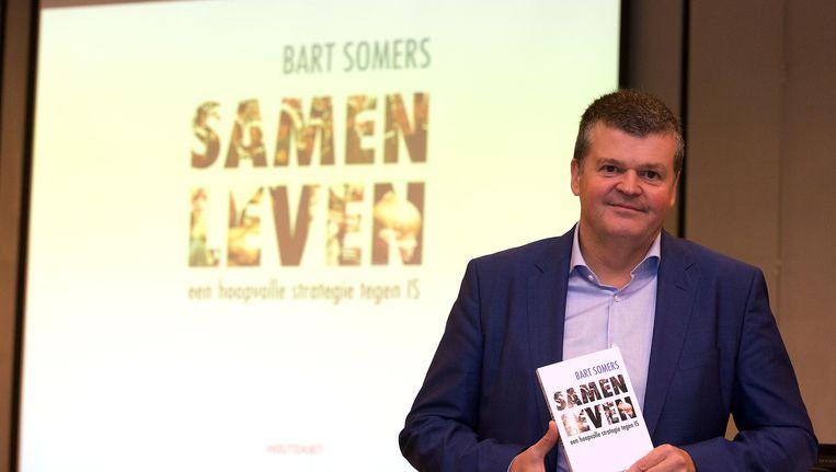 Bart Somers tijdens de voorstelling van zijn boek 'Samen Leven. Een hoopvolle strategie tegen IS.'