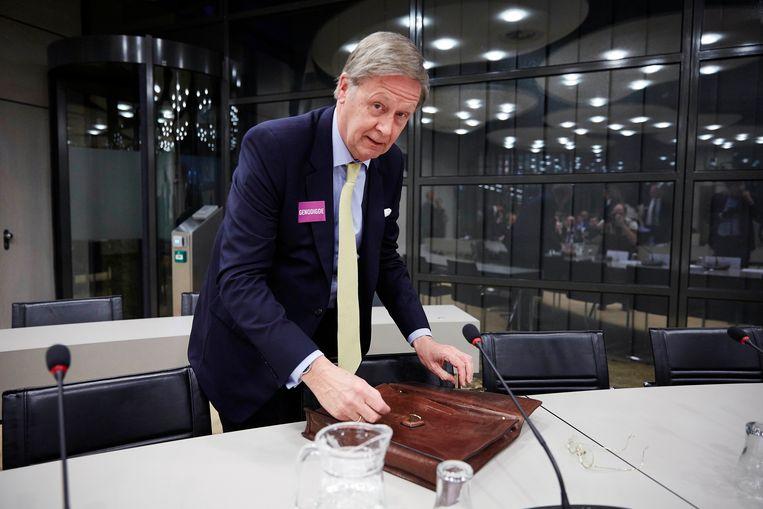 Henk Breukink tijdens een overleg in de Tweede Kamer, 2015. Beeld Phil Nijhuis / HH