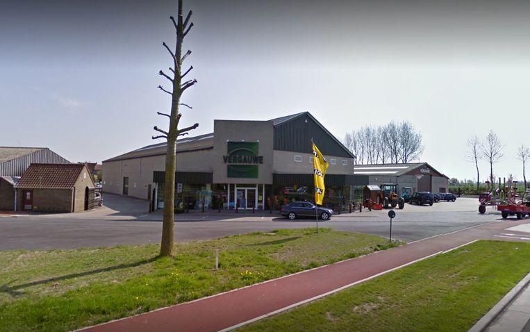 Tuincentrum Vergauwe langs de Molenstraat in Nieuwpoort.
