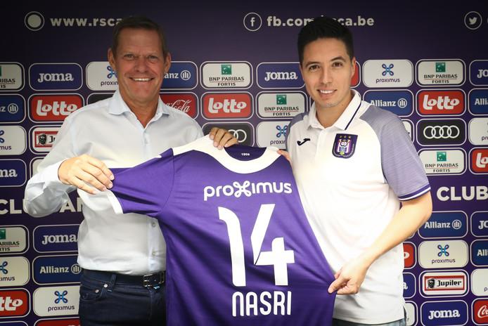 Samir Nasri a été officiellement présenté à Anderlecht.