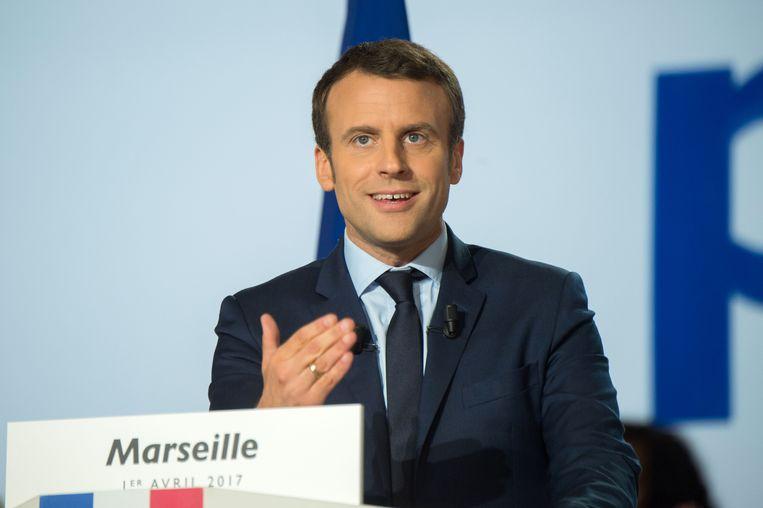 De voormalige minister van Financiën onder president François Hollande keerde vorig jaar de socialisten de rug toe en richtte zijn eigen centrumlinkse partij En Marche! op.