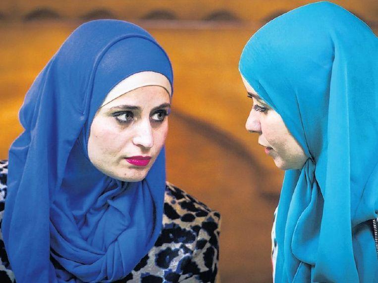 Moslima's in Amsterdam. Beeld anp