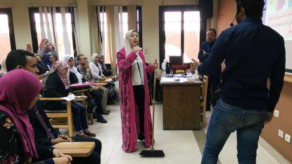 Egyptische studenten krijgen les over huwelijk