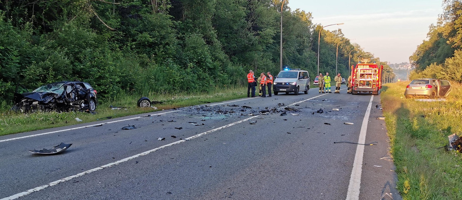 Het tragische ongeval gebeurde op de N97 ter hoogte van het Belgische Ciney.