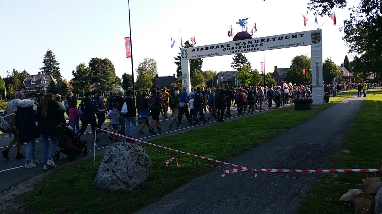 De Airborne Wandeltocht in Oosterbeek.