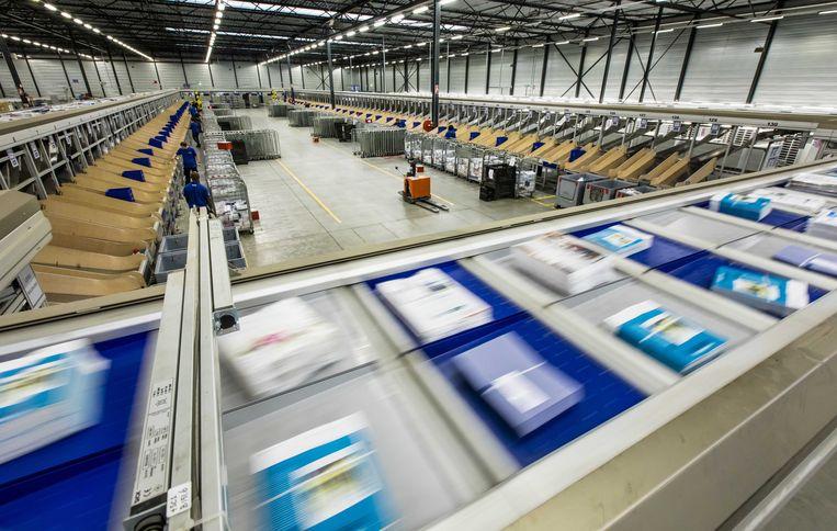 Het sorteercentrum van postbedrijf Sandd.  Beeld ANP XTRA