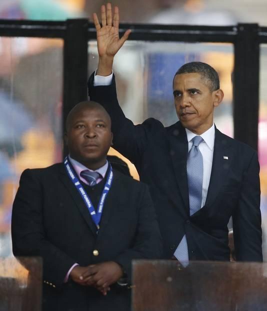 Thamsanqa Jantjie stond onder meer naast Barack Obama.