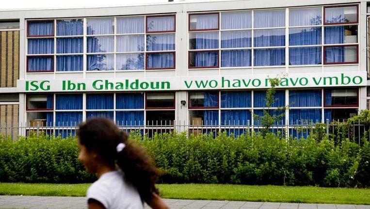De islamitische scholengemeenschap De Opperd in Rotterdam, het voormalige Ibn Ghaldoun. Beeld anp