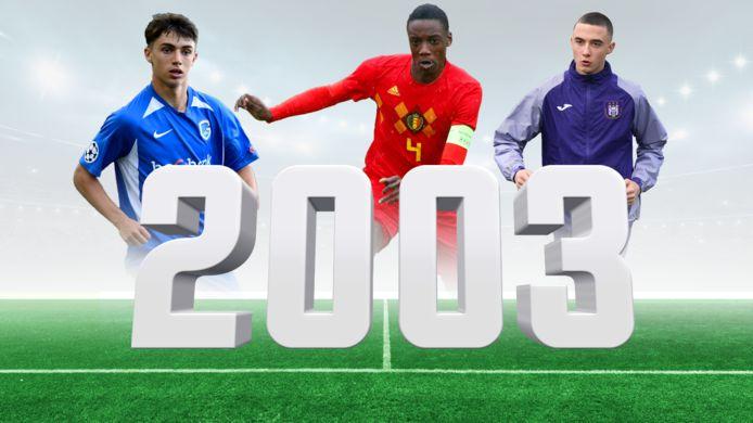 Luca Oyen, Ardy Mfundu en Zeno Debast: enkele toptalenten die geboren zijn in 2003.