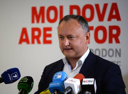 Le président moldave en exercice, Igor Dodon, jugé pro-russe