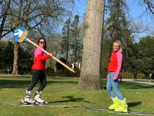 Op ski's in het vlakke Holland in de lentezon? Zó houd je de juiste afstand