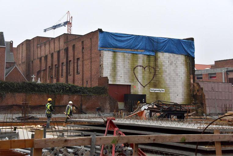 De theaterzaal van Het Gevolg had last van stabiliteitsproblemen door de werkzaamheden.