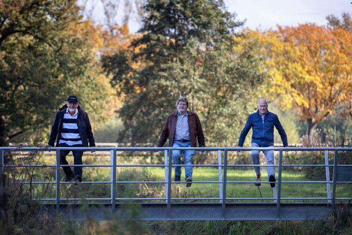 Johan van Beek, Ad Bone en Joop Kock tijdens het ommetje (vlnr ).