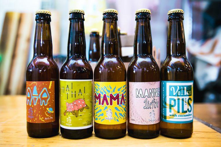 Bij Oedipus Brewing wordt bekend welk biertje en welke burger de kampioenen van het jaar zijn. Beeld De Fotomeisjes