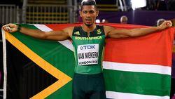 Zuid-Afrikaan Wayde van Niekerk overklast het hele pak op de 400 meter