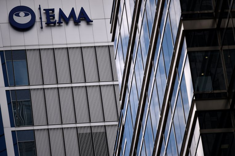 Het hoofdkantoor van de EMA in Londen. Beeld REUTERS