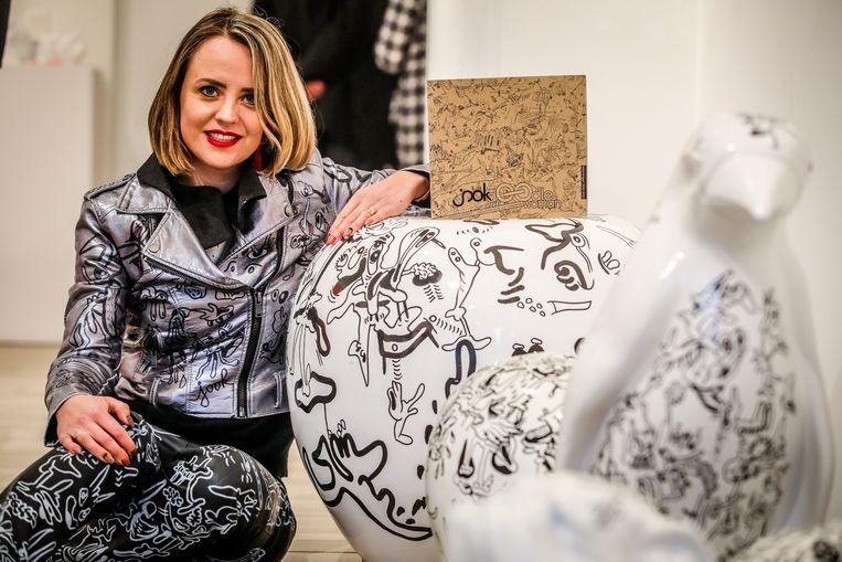 Joke Neyrinck staat bekend om haar doodles.