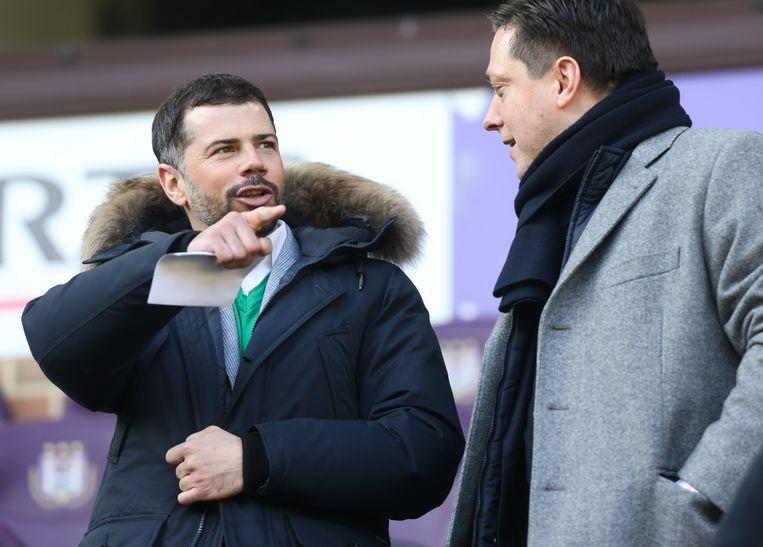 Mateja Kezman was in februari 2015 met Dejan Veljkovic aanwezig tijdens Anderlecht - KV Mechelen.