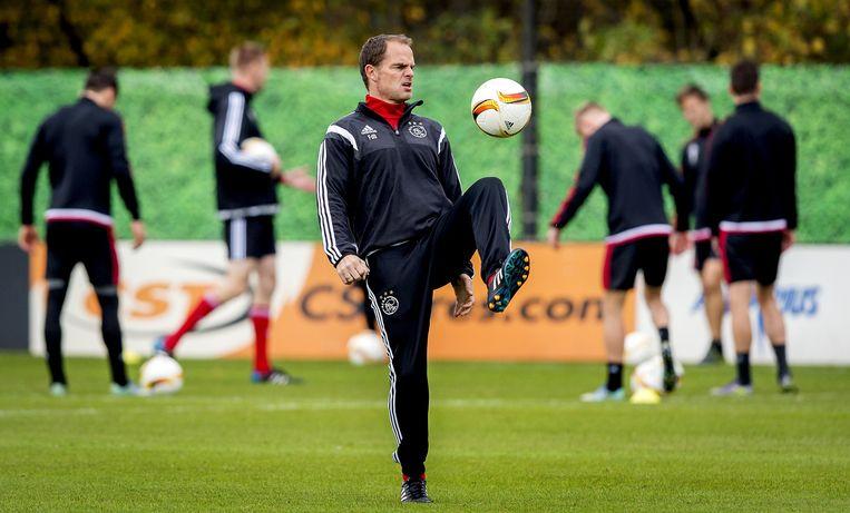 Frank de Boer op de training Beeld anp